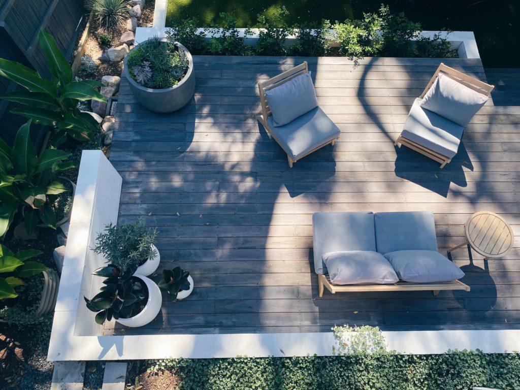 terrasse de maison en bois design
